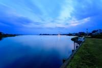 Shinnecock, Bay, New York, Old Fort Pond, Southampton, Sunset, Blue, Hamptons