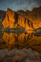 Ships Prow,Chasm Lake,Longs Peak,RMNP,Longs Peak Trailhead,Estes Park,Rocky Mountain National Park,Colorado,August,Climbing,Stormy,Sunrise,Landscape,Photography,Reflection
