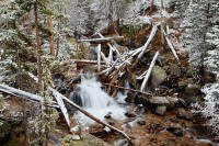 Cony Creek,Wild Basin,North Saint Vrain,Rocky Mountain National Park,Colorado,Snow,waterfall