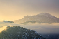 Twin Sisters, Longs Peak,Trail Ridge Road,Sunrise,Winter,Rocky Mountain National Park,Colorado,Estes Park