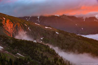 Hanging Valley,Ute Trail,Sundance Mountain,RMNP,Trail Ridge Road,Estes Park,Grand Lake,Colorado,Rocky Mountain National Park,Sunrise,Inversion,Foggy,Mummy Range,Landscape,Photograph