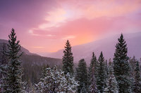 Saint Vrain,St. Vrain,Wild Basin,Rocky Mountain National Park,RMNP,Sunrise,snow,winter