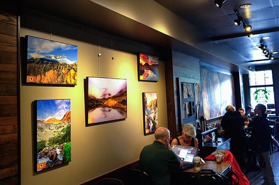 Prints On Display At Estes Park Starbucks