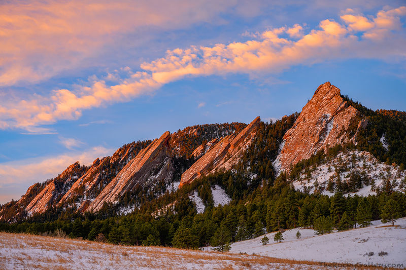Chatauqua Park,Chatauqua Meadow,OSMP,The Flatirons,Baseline Road,Winter,January,Sunrise,Sunday,Landscape,Photography,Clouds,Snow,Winter,iconic