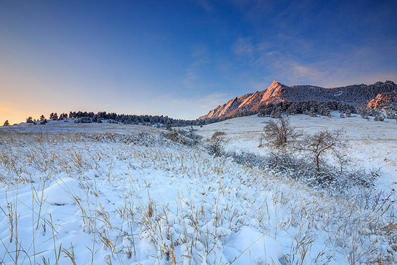 Boulder,Colorado,Flatirons,Open Space,Chautauqua Park,winter,cold