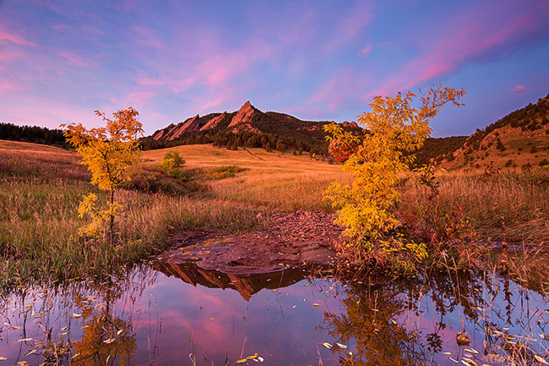Boulder,Colorado,Open Space,Autumn,Fall,Chautauqua,Park,Meadow,Reflections