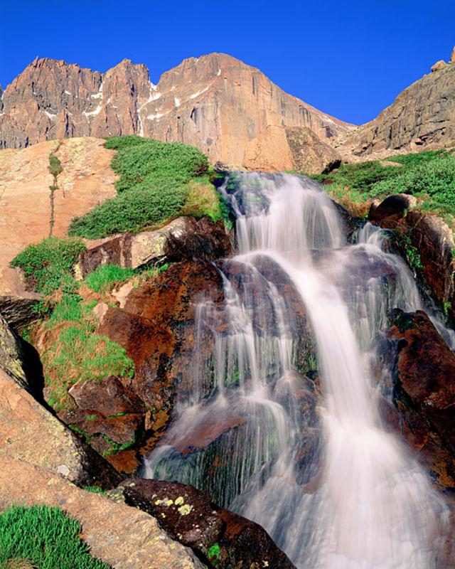 Longs Peak and Columbine Falls
