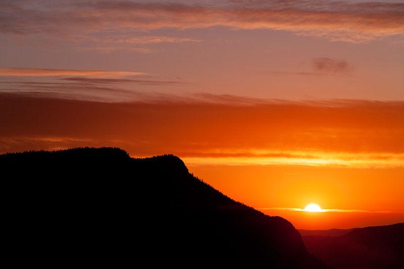 Red Dawn On Deer Mountain