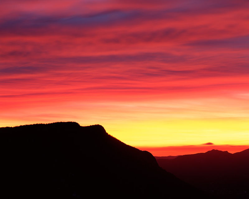 Rocky Mountain National Park, Colorado, Deer Mountain, Trail Ridge Road, Winter, Sunrise