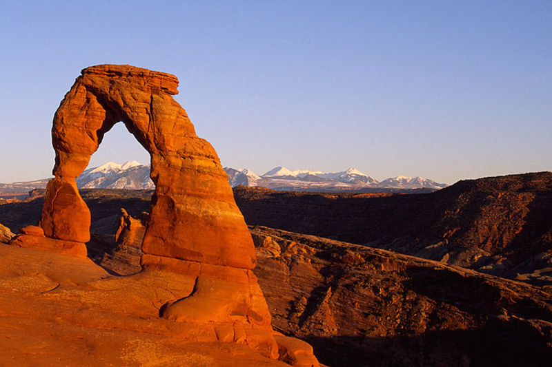 Delicate Arch and La Sal Mountains