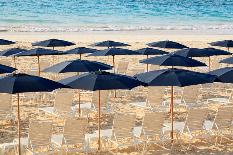 Umbrellas at Elbow Beach