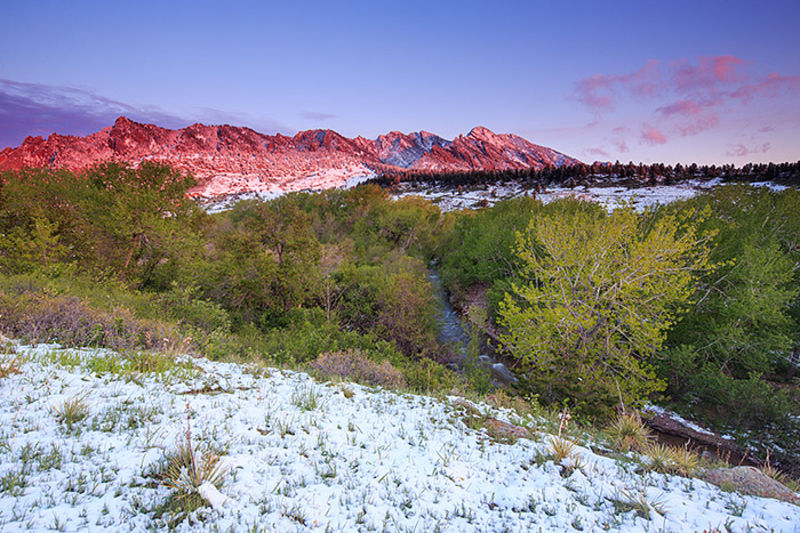 Boulder,Colorado,Eldorado Springs,Flatirons,South Boulder Creek,Sunrise,Open Space and Mountain Parks,snowstorm