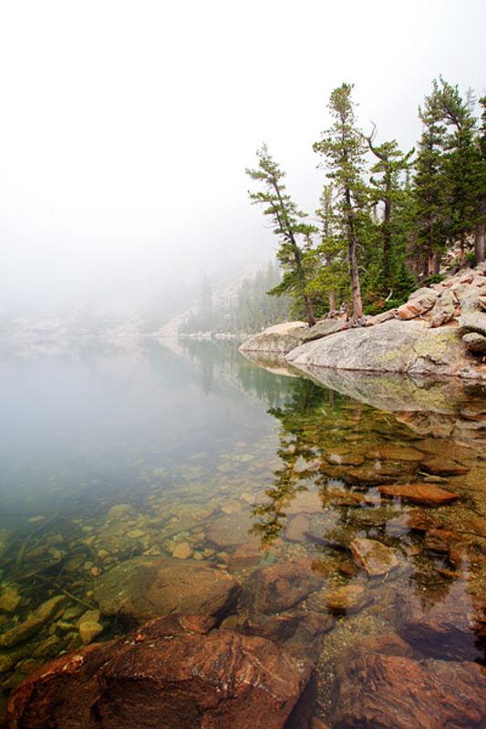 Emerald Lake and Fog