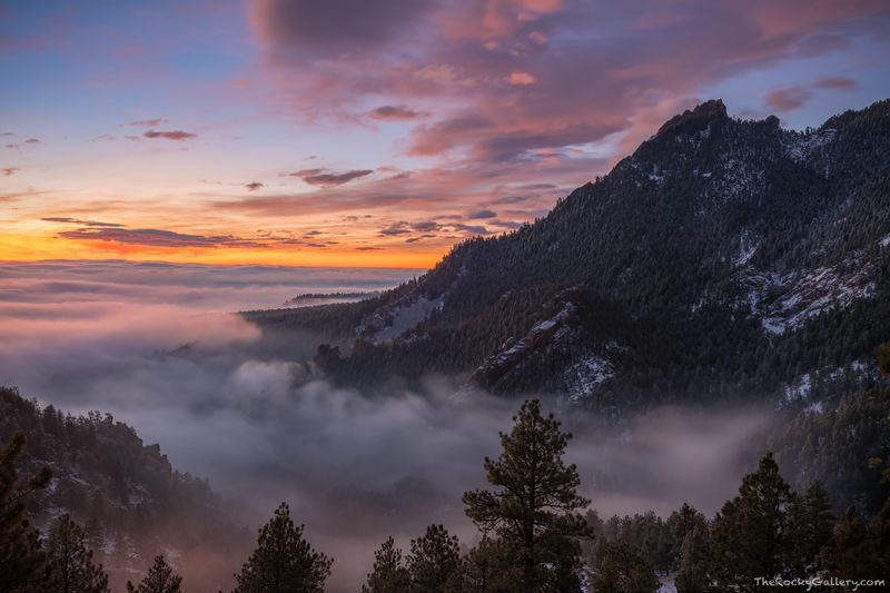 Boulder, Colorado,Flagstaff Mountain,Open Space and Mountain Parks,Sunrise,Landscape,Photography,February,Flatirons,Inversion,Sunrise,Chautauqua,park,Gregory Canyon