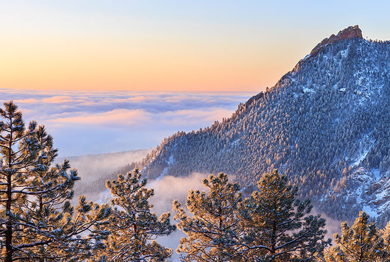 Boulder,Colorado,Open Space and Mountain Parks,Flagstaff Mountain,Snow,The Flatirons,sunrise,photography,summit,inversion,winter,spring,green mountain,denver