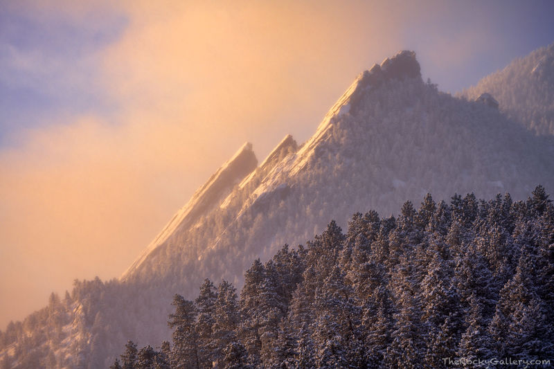 Flagstaff Mountain, The Flatirons, Sunrise,Snow,March,Landscape,Photography,Chautaqua Park,Boulder,Colorado,OSMP,Open Space and Mountain Parks,