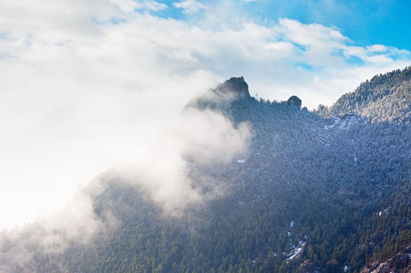 Fog Over The Flatirons