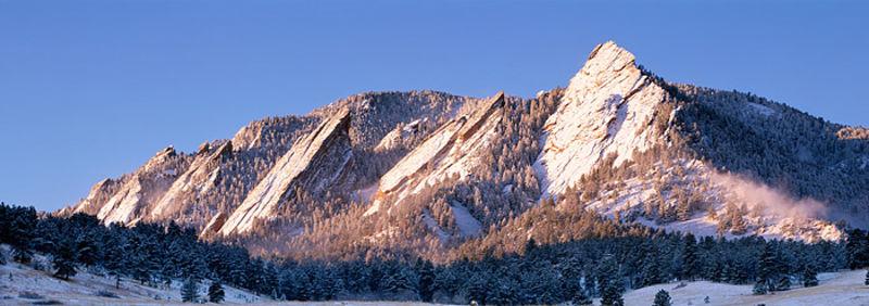 Boulder Flatirons from Chautauqua Meadow
