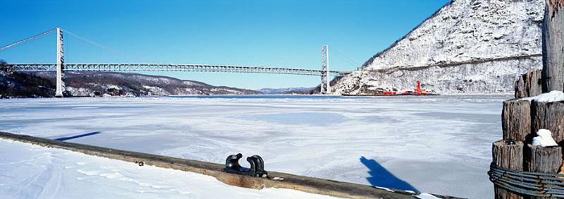 Tug Boat on a Frozen Hudson River