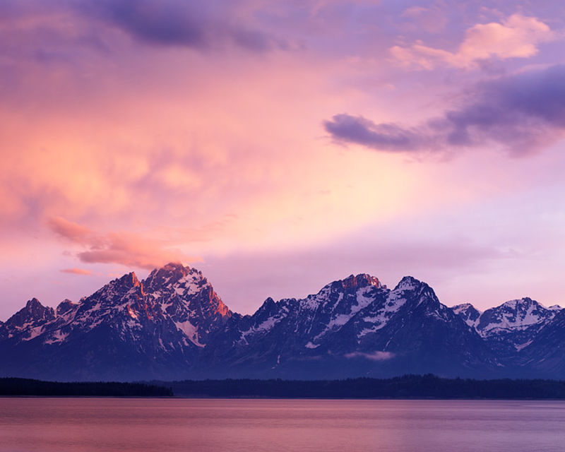 Grand Tetons from Jackson Lake