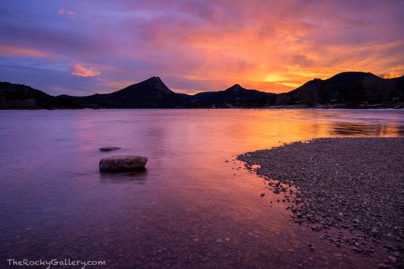 Lake Estes,Mount Olympia,Sunrise,Landscape,Photography,Colorado,Lake,RMNP,Rocky Mountain Nationl Park,US 36,Sunrise,January
