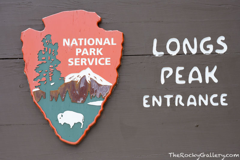 Longs Peak Trailhead,Longs Peak,Sign,Entry,Tahosa Valley,Highway 7,Hiking,Climbing,Colorado,14er,RMNP,Rocky Mountain National Park,Photography,Landscape,hand of man,NPS,Nationaln Park Service