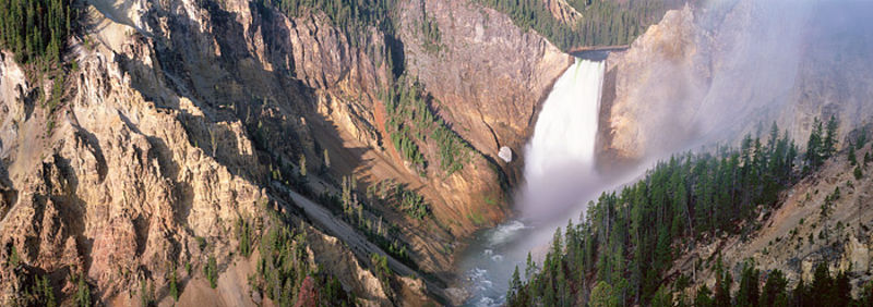 Lower Falls of the Yellowstone Panoramic