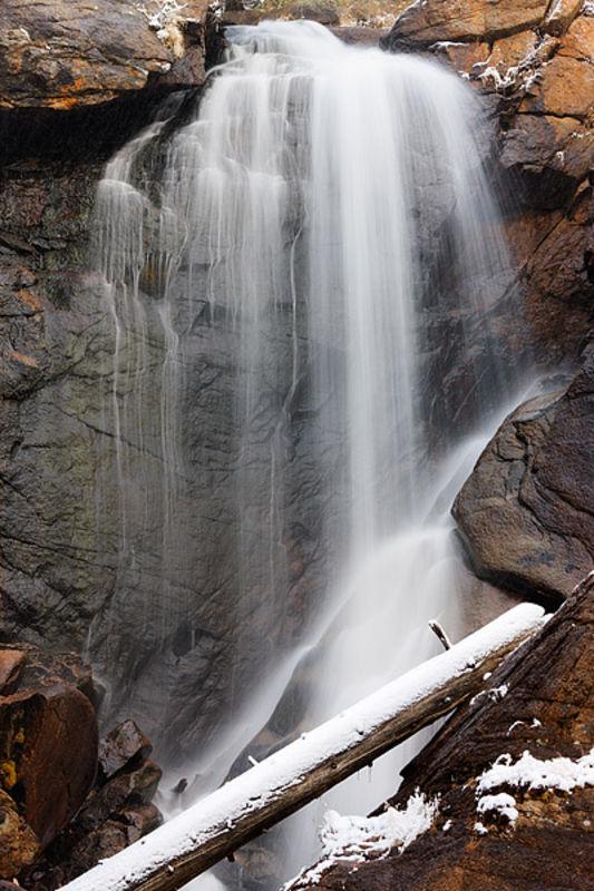 Ouzel Falls In White