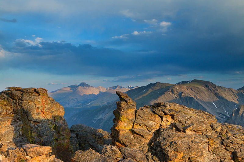 Longs Peak In Blue