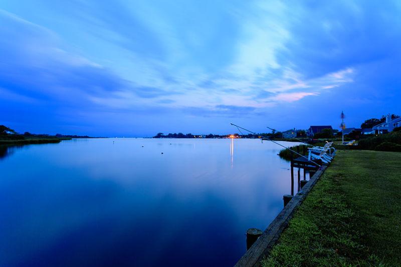 Evening Blue Over Shinnecock Bay