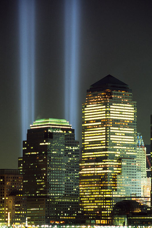Tribute in Light from Liberty State Park