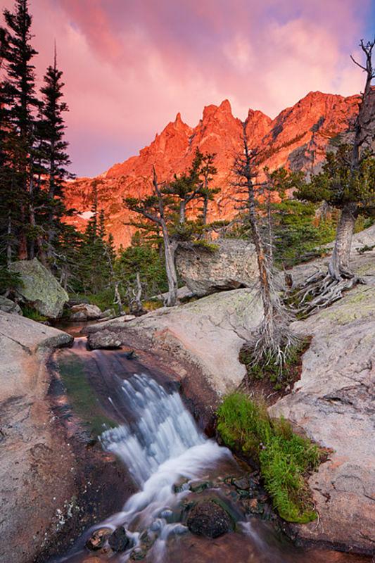 Tyndall Creek and Flattop Mountain