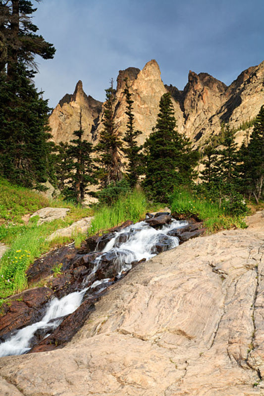 Tyndall Falls and Flattop Mountain