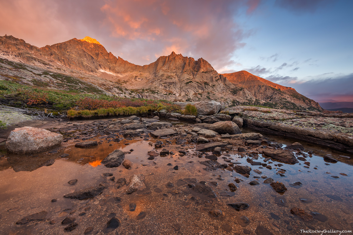 Black Lake,Green Lake,Tarn,McHenry Peak,Arrowhead,RMNP,Rocky Mountain National Park,Colorado,Estes Park,Glacier Gorge,Trailhead,Basin,Sunrise,Reflection,Bear Lake Road,Landscape,Photography,tundra,tre, photo