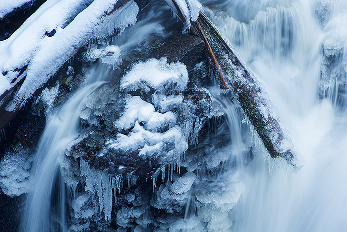 Adams Falls,Grand Lake,Rocky Mountain National Park,Colorado,ice,winter,snow, photo