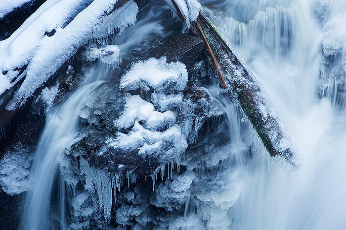 Adams Falls,Grand Lake,Rocky Mountain National Park,Colorado,ice,winter,snow, photo