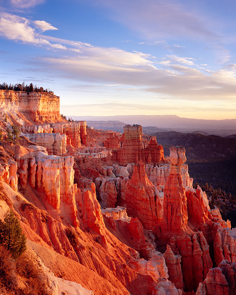On this particular morning the sandstone red hoodoo's of Bryce Canyon did not disappoint. The view from Aqua Canyon at sunrise...