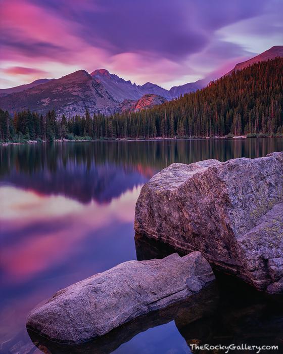 Bear Lake, Sunrise, Longs Peak, Rocky Mountain National Park, Alpine Lakes, Estes Park, Hallet Peak, photo