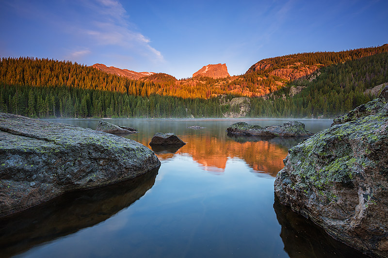 Bear Lake,Hallet Peak,Sunrise,Landscape,Photography,Reflection,Estes Park,Rocky Mountain National Park,Colorado , photo