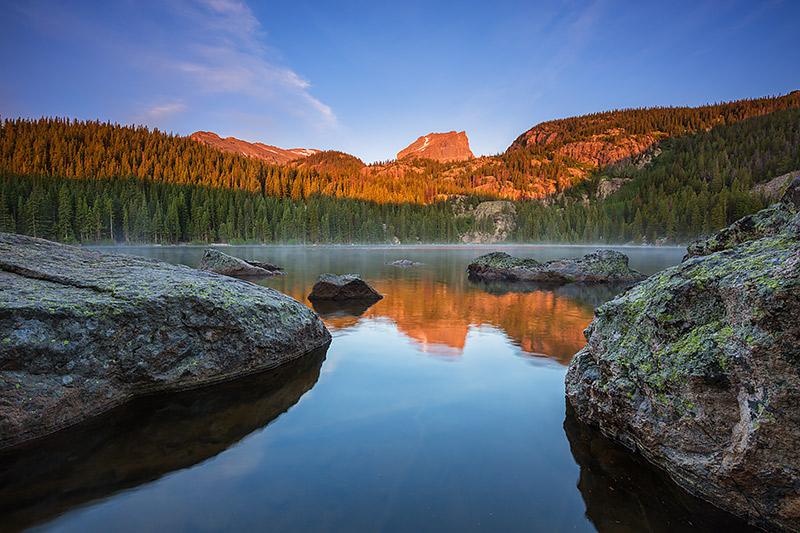 Bear Lake,Hallet Peak,Sunrise,Landscape,Photography,Reflection,Estes Park,Rocky Mountain National Park,Colorado , photo