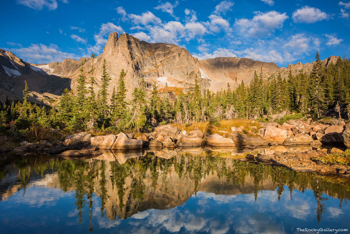 Notchtop Mountain,Two Rivers Lake,Lake Helene,Odessa Gorge,RMNP,Estes Park,Bear Lake Trailhead,Rocky Mountain National Park,Colorado,Landscape,Photography,Morning,September,Reflections, photo