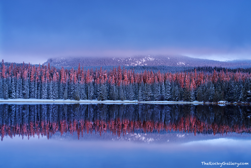 Bierstadt Lake,Sunrise,Reflection,Snow,Winter,Spring,Flattop Mountain,Rocky Mountain National Park,Colorado,RMNP,Bear Lake Road,Estes Park,Hallett Peak,Landscape,Photography,April, photo