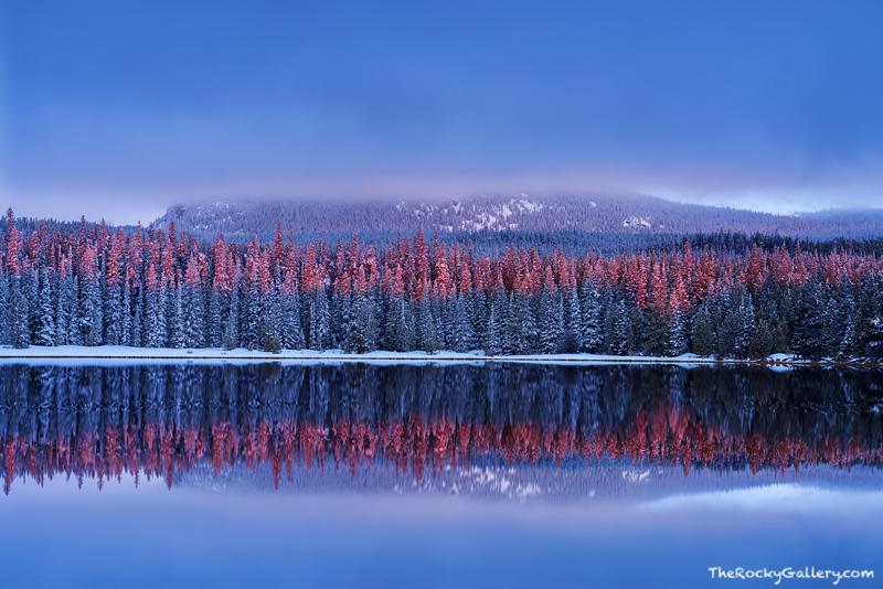 Bierstadt Lake,Sunrise,Reflection,Snow,Winter,Spring,Flattop Mountain,Rocky Mountain National Park,Colorado,RMNP,Bear Lake Road,Estes Park,Hallett Peak,Landscape,Photography,April, photo
