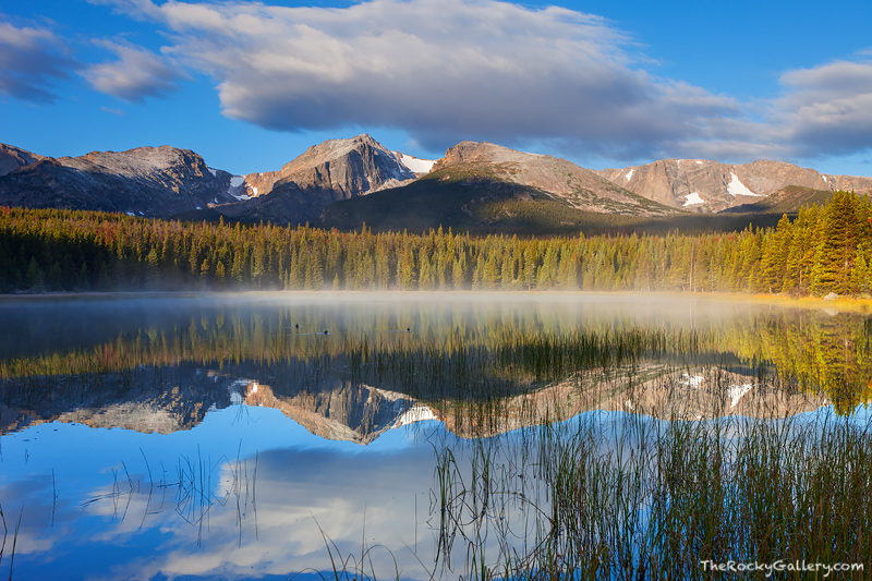 Rocky Mountain National Park, Bierstadt Lake, Colorado, landscape photography, Sunrise,clouds,estes park,RMNP,Reflections,Hallett Peak,Flattop Mountain,Hudson River School,painter,snow, photo