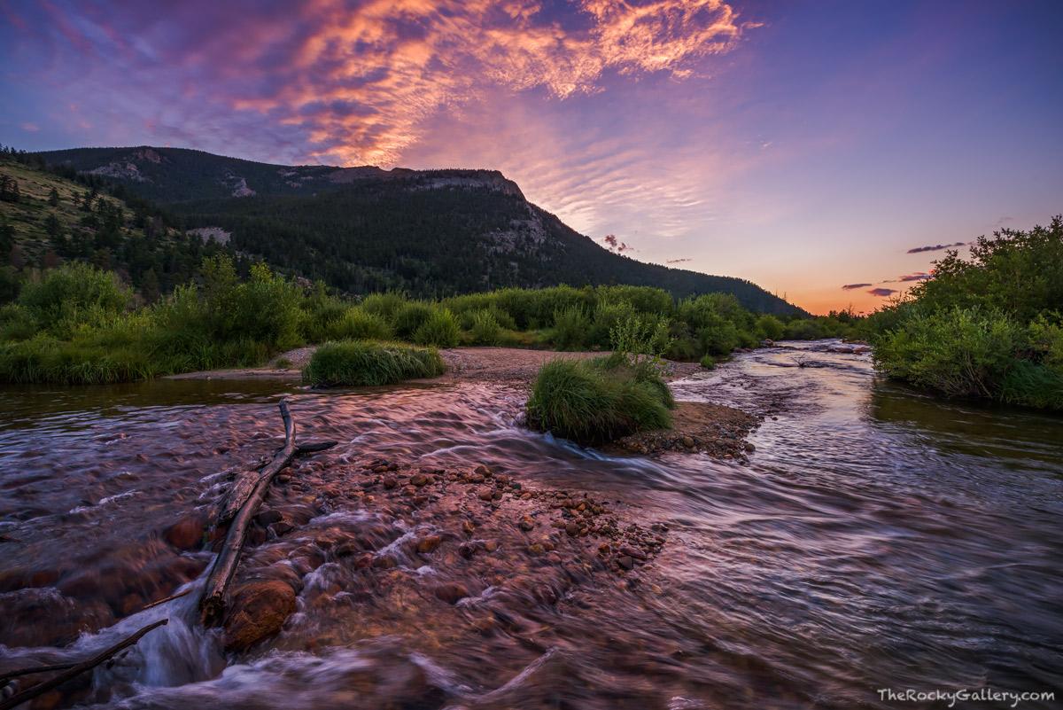 Roaring River,Fall River,Big Horn Mountain,Horseshoe Park,Sunrise,August,Summer,Landscape,Photography,Rocky Mountain National Park,Colorado,RMNP,Estes Park, photo
