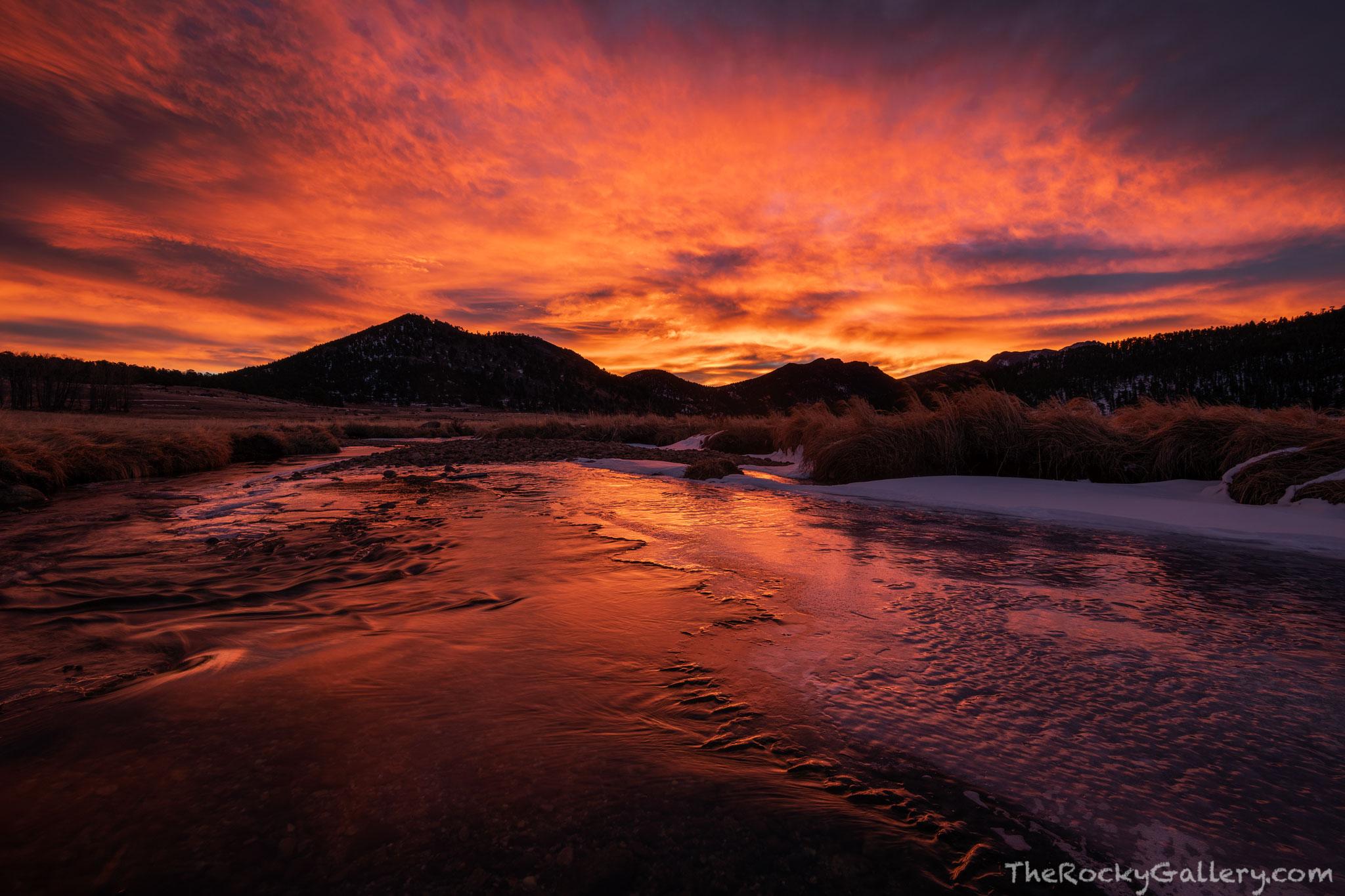 Big Thompson River,Thanksgiving,RMNP,Bear Lake Road,Colorado,Sunrise,November,Rocky Mountain National Park,Estes Park,Landscape,Photographer,Eagle Cliff Mountain, photo