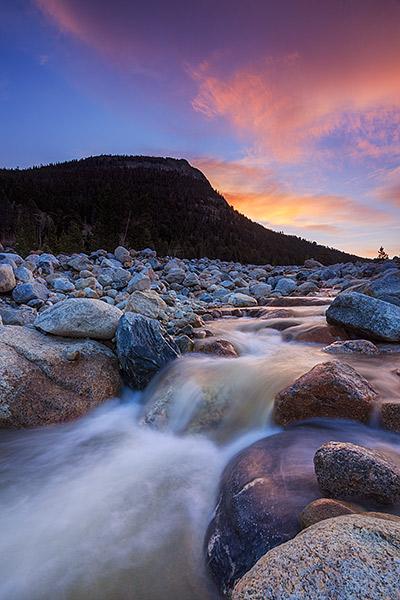 Bighorn Mountain,RMNP,Rocky Mountain National Park,Colorado,Alluvial Fan,Horseshoe Park,Roaring River, Sunrise,Estes Park,Flooding,September,2013, photo