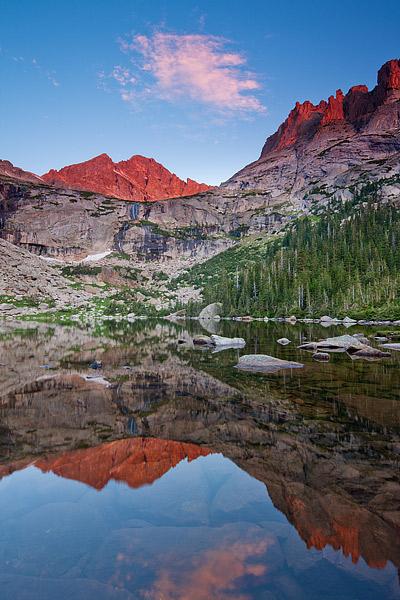 Black Lake,Rocky Mountain National Park,Colorado,Mchenry's Peak,Reflection,Glacier Gorge, photo