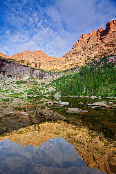 McHenry's Peak,Arrowhead Peak,Glacier Gorge,Rocky Mountain National Park,Colorado,Reflection,perfect,majestic, photo