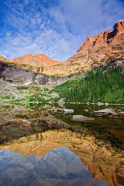 McHenry's Peak,Arrowhead Peak,Glacier Gorge,Rocky Mountain National Park,Colorado,Reflection,perfect,majestic, photo